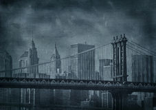Imagem do grunge do vintage de New York City Fotos de Stock Royalty Free