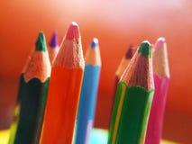 Imagem do grupo colorido de lápis fotos de stock