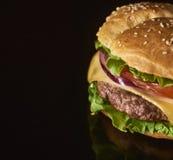Imagem do hamburguer saboroso fresco fotografia de stock