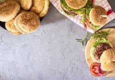 Imagem do hamburguer saboroso fresco imagem de stock