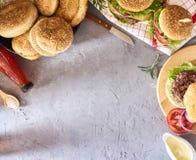 Imagem do hamburguer saboroso fresco fotografia de stock royalty free