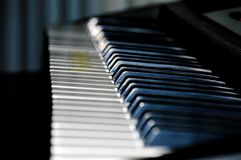 Imagem do instrumento musical do piano Foto de Stock