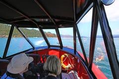 Imagem do interior do barco de motor pequeno Imagem de Stock Royalty Free