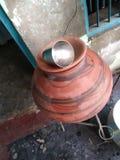 Imagem do jarro com vidro de aço imagens de stock