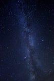 Imagem do lapso de tempo das estrelas da noite Foto de Stock