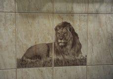 Imagem do leão na telha Imagem de Stock