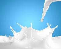 A imagem do leite espirra imagens de stock royalty free