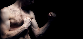 Imagem do lutador de pouco peso Imagens de Stock