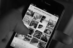 Imagem do macro do iPhone do mundo a melhor Fotografia de Stock Royalty Free