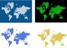 Imagem do mapa de mundo ilustração do vetor