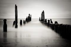 Imagem do mar de B&w Fotos de Stock