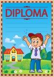 Imagem 6 do molde do diploma ilustração stock
