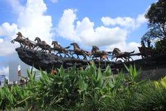 Imagem do monumento do cavalo fotografia de stock