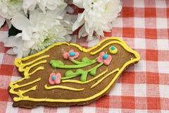 Imagem do pão-de-espécie decorada belamente com esmalte Foto de Stock Royalty Free