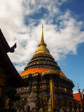 A imagem do pagode tailandês Phrathat Lampang Luang Tailândia Imagens de Stock Royalty Free