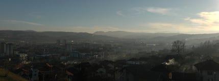 Imagem do panorama de Doboj, Bósnia-Hercegovina Imagem de Stock