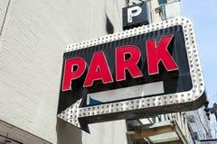 Imagem do parque de estacionamento Imagens de Stock