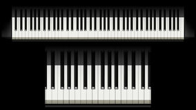 Imagem do piano 01 Foto de Stock Royalty Free