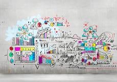 Imagem do plano de negócios Imagem de Stock Royalty Free