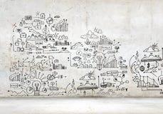 Imagem do plano de negócios Imagens de Stock