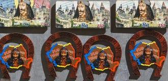 A imagem do príncipe Vlad o Impaler na cidade velha do sighisoara, romania imagem de stock royalty free