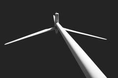 Imagem do preto e do wnite do windfarm Reino Unido Fotos de Stock Royalty Free