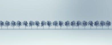 Imagem do raio X da árvore isolada ilustração stock