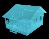 Imagem do raio X da casa pequena Fotos de Stock