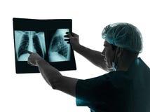 Imagem do raio X do radiologista do cirurgião do doutor Imagens de Stock