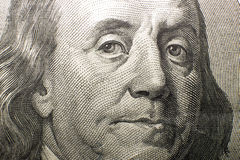 Imagem do retrato de $100 dólares americanos Imagem de Stock Royalty Free