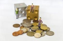 Imagem do risco de investimento e do conceito do retorno Foto de Stock Royalty Free