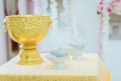Imagem do shell do búzio para o estilo tradicional do casamento de Tailândia Foto de Stock Royalty Free