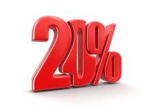 Imagem do sinal 20% Fotos de Stock Royalty Free