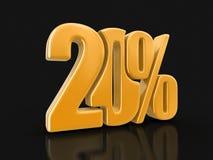 Imagem do sinal 20% Fotos de Stock