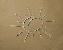 Imagem do sol na areia imagens de stock royalty free