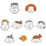 A imagem do sorriso da família ilustração do vetor