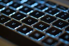 Imagem do teclado de um macbook pro ilustração stock
