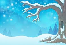 Imagem 3 do tema da árvore do inverno Foto de Stock