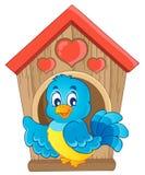 Imagem do tema da caixa de assentamento do pássaro   Imagens de Stock Royalty Free