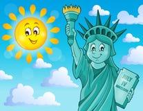 Imagem 2 do tema da estátua da liberdade Fotografia de Stock Royalty Free