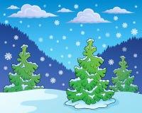 Imagem 1 do tema da estação do inverno Imagens de Stock