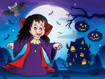 Imagem 7 do tema da menina do vampiro Fotos de Stock Royalty Free