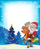 Imagem 5 do tema de Santa Claus Fotos de Stock Royalty Free