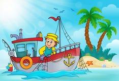 Imagem 5 do tema do barco de pesca Imagem de Stock