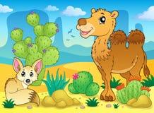Imagem 4 do tema do deserto Imagem de Stock Royalty Free
