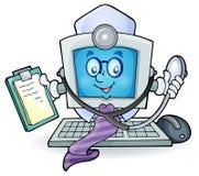 Imagem 1 do tema do doutor do computador Fotos de Stock Royalty Free
