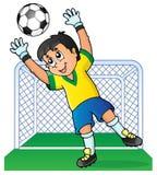 Imagem 3 do tema do futebol Foto de Stock Royalty Free