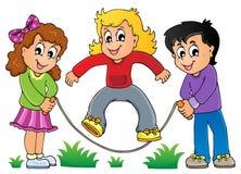 Imagem 1 do tema do jogo das crianças Foto de Stock Royalty Free