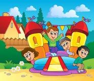 Imagem 1 do tema do jogo e do divertimento Imagem de Stock