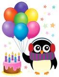 Imagem 1 do tema do pinguim do partido Imagem de Stock Royalty Free